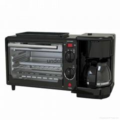 家用三合一电烤箱多功能早餐机咖啡机