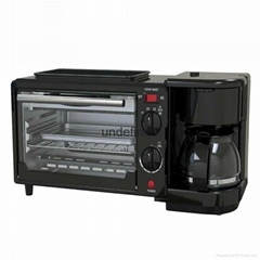 Home three in one electric oven multi - purpose breakfast machine coffee machine