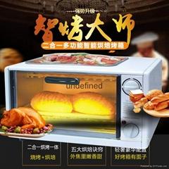 出口爆款二合一电烤箱煎蛋器烘焙烤箱