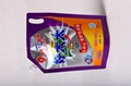 Plastic laundary liquid bags washing powder jelly bags with spout 4