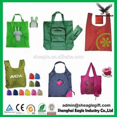 2017 OEM Fashion Cheap Recycled Nylon Polyester eco foldable shopping bag