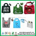 2017 OEM Fashion Cheap Recycled Nylon Polyester eco foldable shopping bag 3