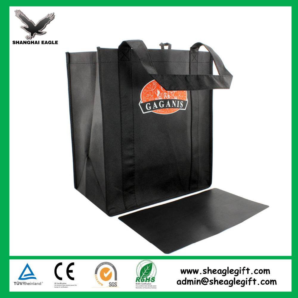 Custom Promotional wine shopping tote fabric laminated pp non woven bag 1