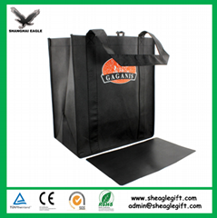 Custom Promotional wine shopping tote fabric laminated pp non woven bag