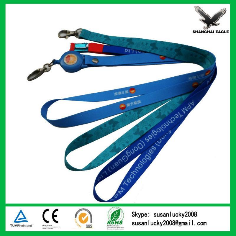 Customized Exhibition Sublimation Printed Logo NylonWoven Polyester Neck Lanyard 2