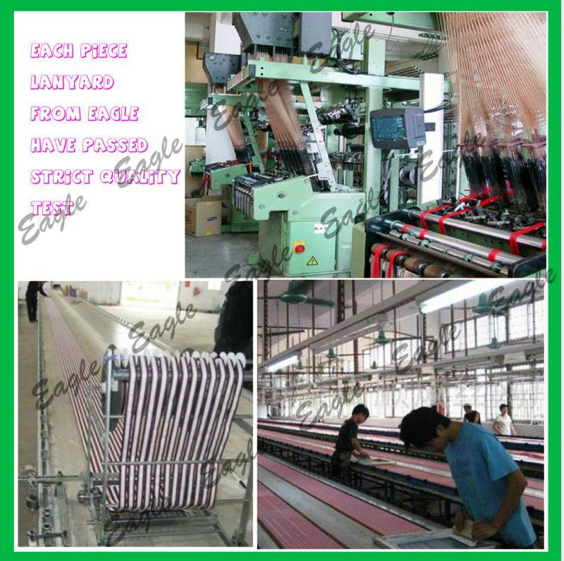Customized Exhibition Sublimation Printed Logo NylonWoven Polyester Neck Lanyard 4