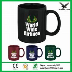 Custom strengthen blank sublimation porcelain white ceramic mug