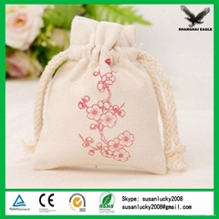 China Shanghai Custom Cotton Jewelry Packing Pouch