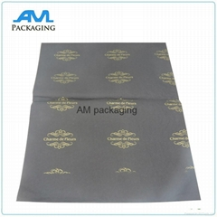 custom printed gold logo gift wholesale tissue paper waterproof packaging