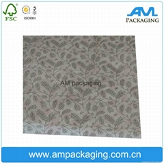 Custom gift packaging paper printed logo tissue wrapping paper