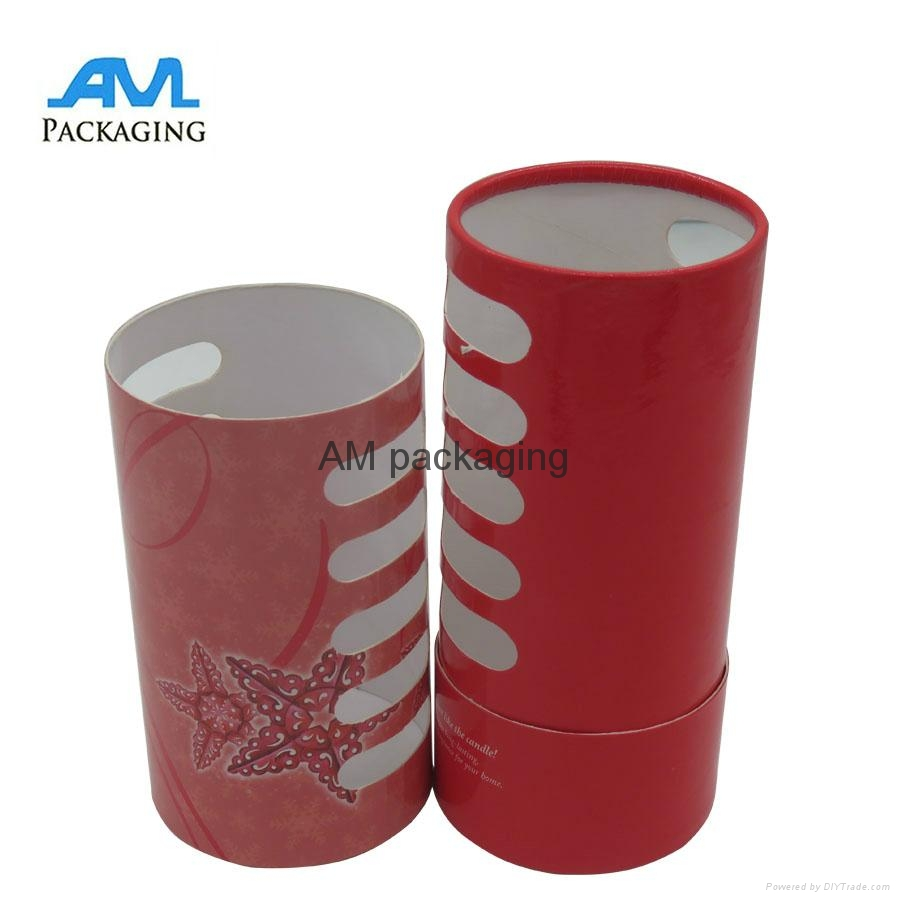 Customized wholesale rolled tea wine rigid tube packaging paper gift box 2