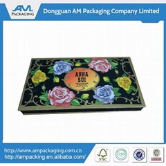 small Handmade decorative eye shadow paper box packaging magnetic lid