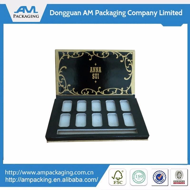 small Handmade decorative eye shadow paper box packaging magnetic lid 2
