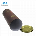 metal lids wholesale bespoke luxury Paper gift packaging tube for wine mailing s 1