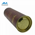 metal lids wholesale bespoke luxury Paper gift packaging tube for wine mailing s 2