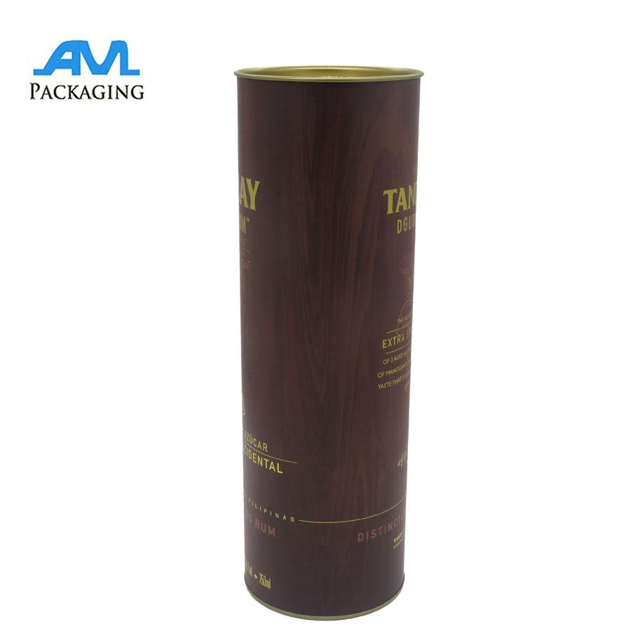 metal lids wholesale bespoke luxury Paper gift packaging tube for wine mailing s 4