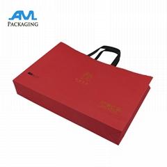 Flat Promotional Shopping Custom Paper Bag