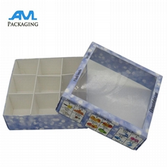 Elegant Printed Custom Logo Bath Bomb Gift Box Packaging With Pvc Window