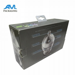 PVC window printed small folding customized paper packaging box