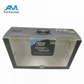 PVC window printed small folding customized paper packaging box 3