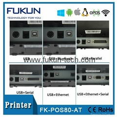 FK-POS80-AT thermal printer with usb
