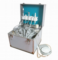 Dental Portable Unit with Air Compressor, Portable Turbine with Curing Light, Sc