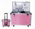 Pink Color Medical Supply Dental Portabl Unit with Air Compressor and Weak Sucti