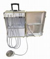 Portabl Dental Unit with 550W Built in Air Compressor and Suction System