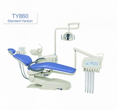 High Quality Colorful Electric Dental Unit Chair with LED Sensor Lamp
