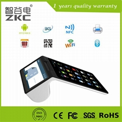 Handheld all in one pos tablet with thermal printer for retail store restaurant