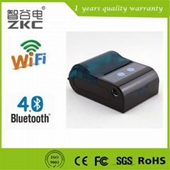 Mobile wifi bluetooth receipt thermal printer