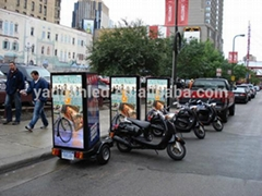 outdoor mobile advertising scooter billboard mobile led screen trailer
