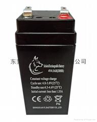 供应4V4.5AH铅酸蓄电池 童车电池4V4.5AH应急灯蓄电池