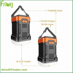 Wholesale Plastic Multi-function led camping lantern power bank with CE