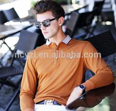 Custom wholesale men polo t shirt 100% cotton casual office fall polo shirt for