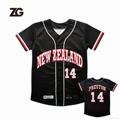 Sublimation 100% Mesh Polyester Fashion Baseball Jersey Baseball Gear