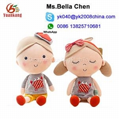 China FACTORY IMPORT stuffed couple toy baby plush dolls