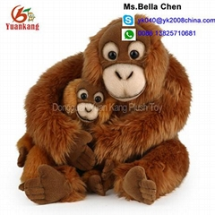 "Kids hugging monkey toy 10"" mom baby mother plush stuffed animal"