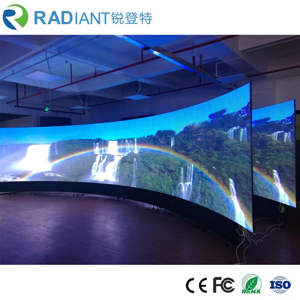 Shenzhen P2.5 indoor soft module curved programmable flexible led display 4