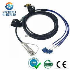4,6,8,12core ODC to single Mode LC upc optic fiber patch cord with Blue cable