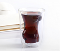 Sexy lady and muscle man shape wine double wall  glass cup whisky glass cup  2