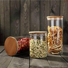 Glass storage jar glass canisters beans jar kitchen jar