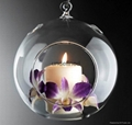 Christmas candle holder glass candle holder birthday gift