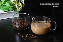 wholesale glass coffee mug for resturant