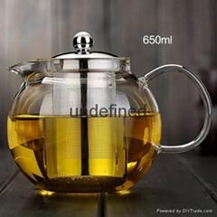 Wholesale glass tea set glass coffee set for restarant and hotel