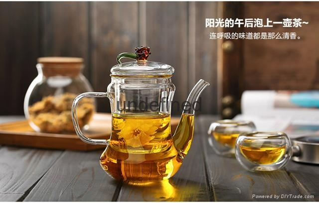 Wholesale glass tea set glass coffee set for restarant and hotel 2