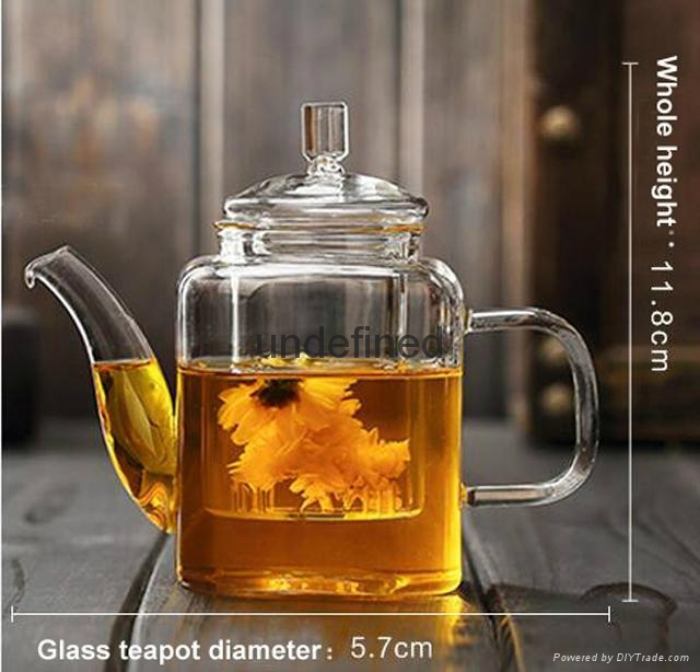 Wholesale glass tea set glass coffee set for restarant and hotel 3