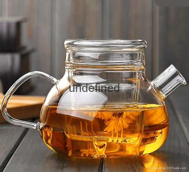 Wholesale glass tea set glass coffee set for restarant and hotel 5