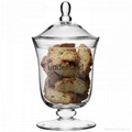Glass storage jar glass canisters beans jar kitchen jar 3
