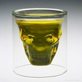 Sexy lady and muscle man shape wine double wall  glass cup whisky glass cup  5